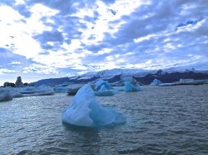Iceberg in glacial lagoon