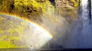 Me, Skogafoss, and a double rainbow
