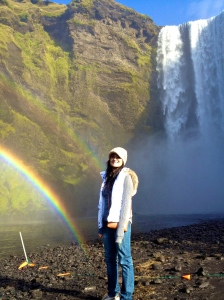 skogafoss double rainbow