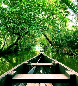 Floating through the Kerala backwaters