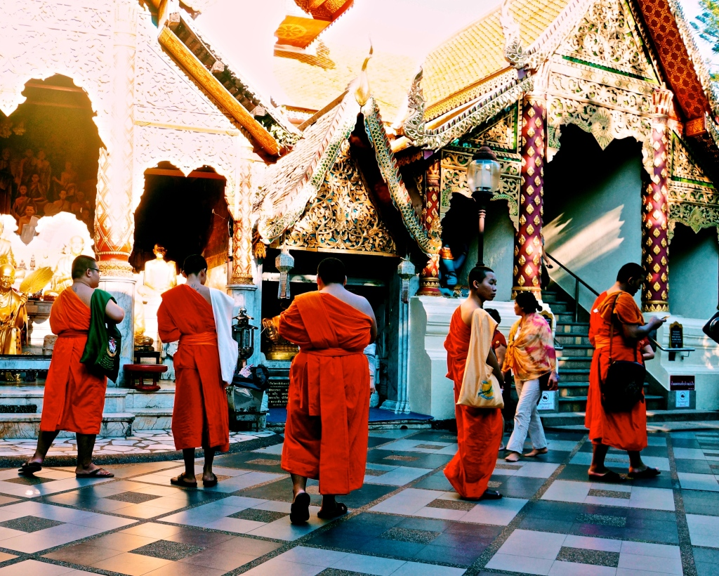 Buddhist monks at Doi Suthep