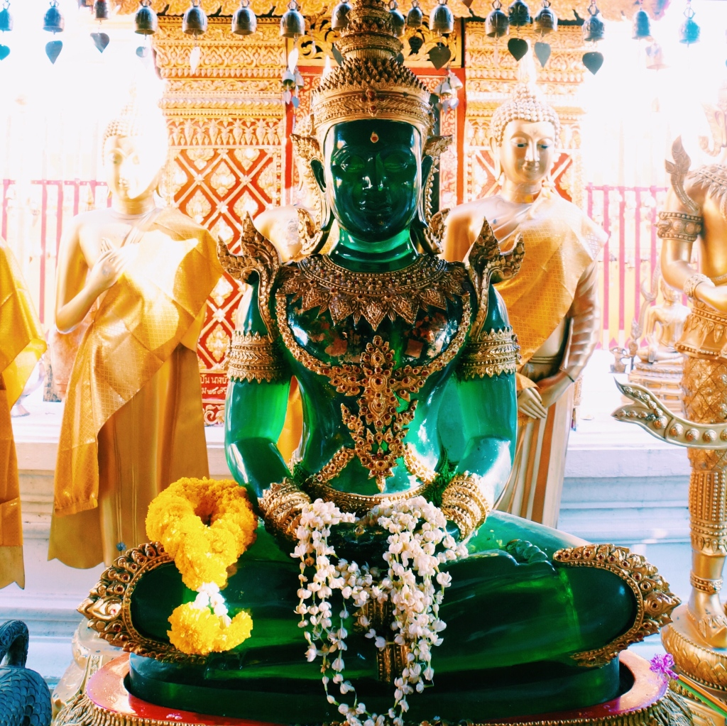 The Emerald Buddha replica at Doi Suthep