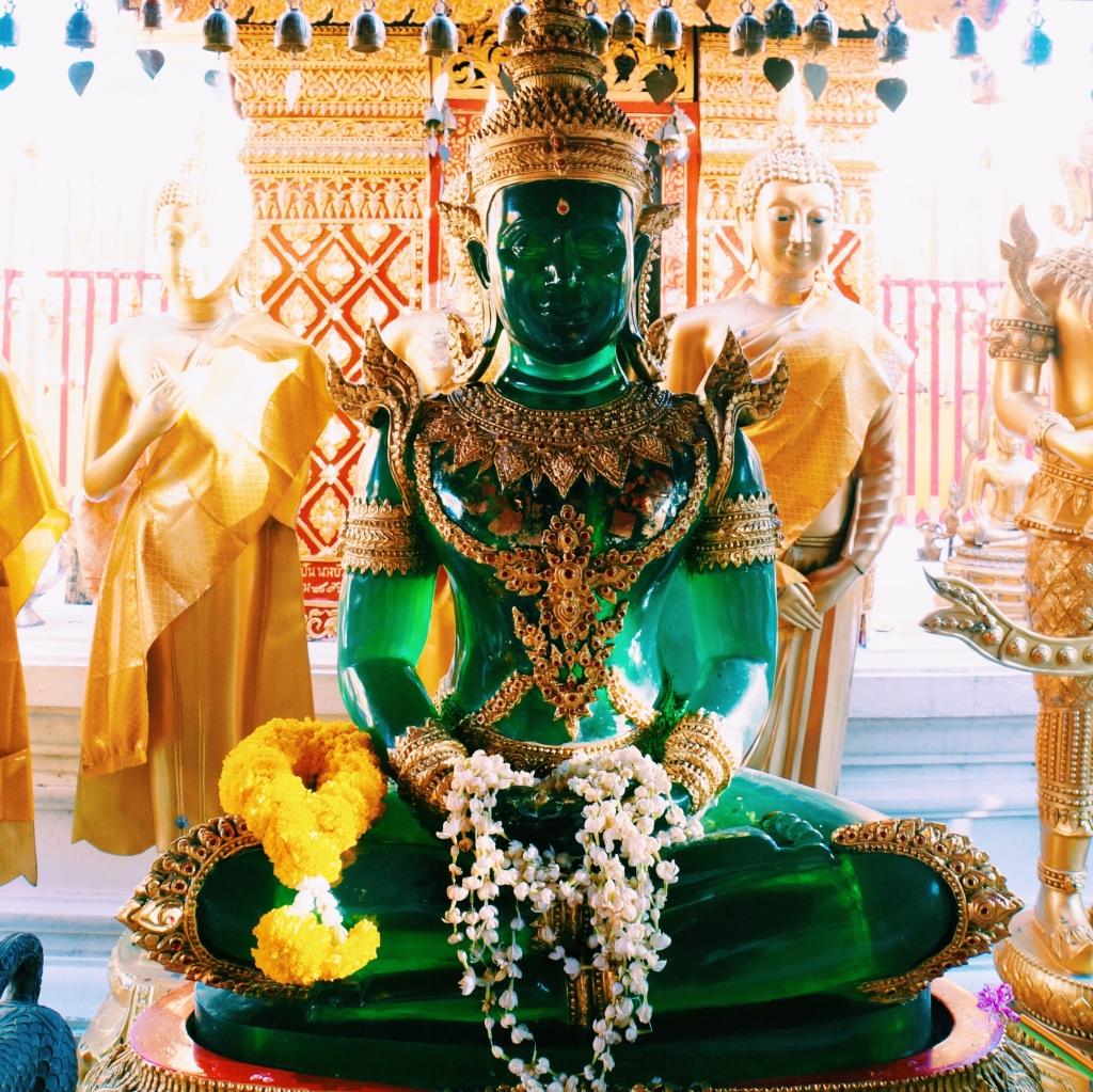 The Emerald Buddha replica at Doi Suthep