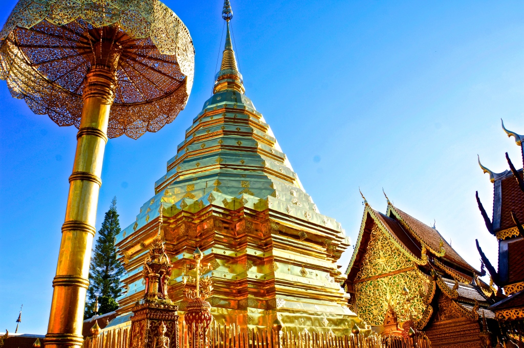 The Golden Pagoda at Doi Suthep
