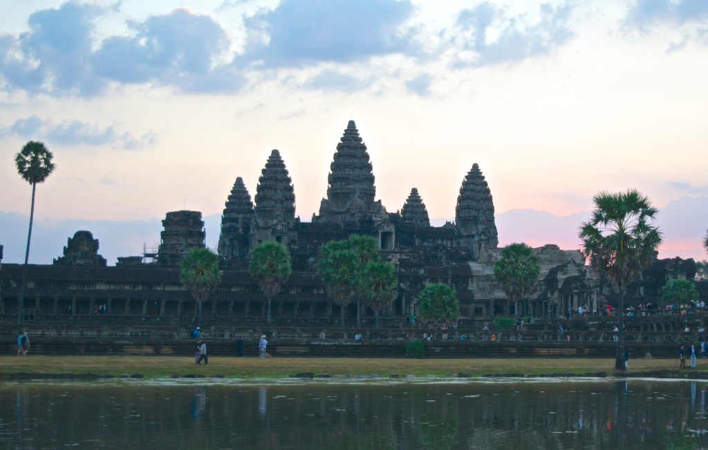 The main temple and reflecting pool at Angkor Wat