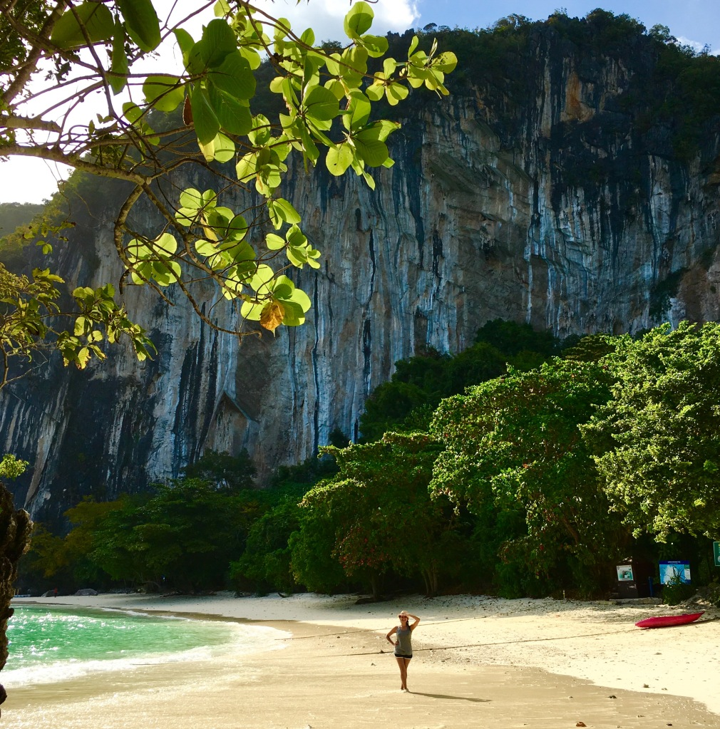 Feeling tiny amidst the cliffs on Koh Hong