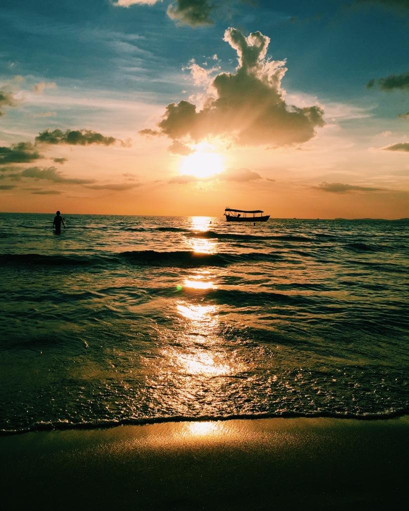 Otres Beach at Sunset