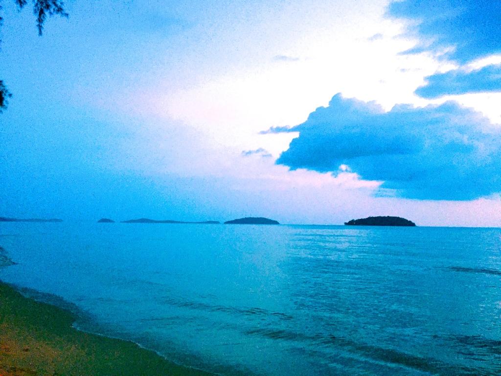View of Koh Rong and Koh Rong Samloem from Otres Beach