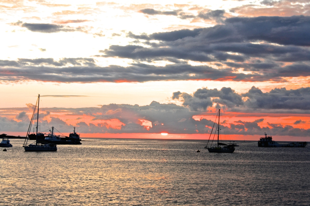 Sunset on San Cristobal in the Galapagos
