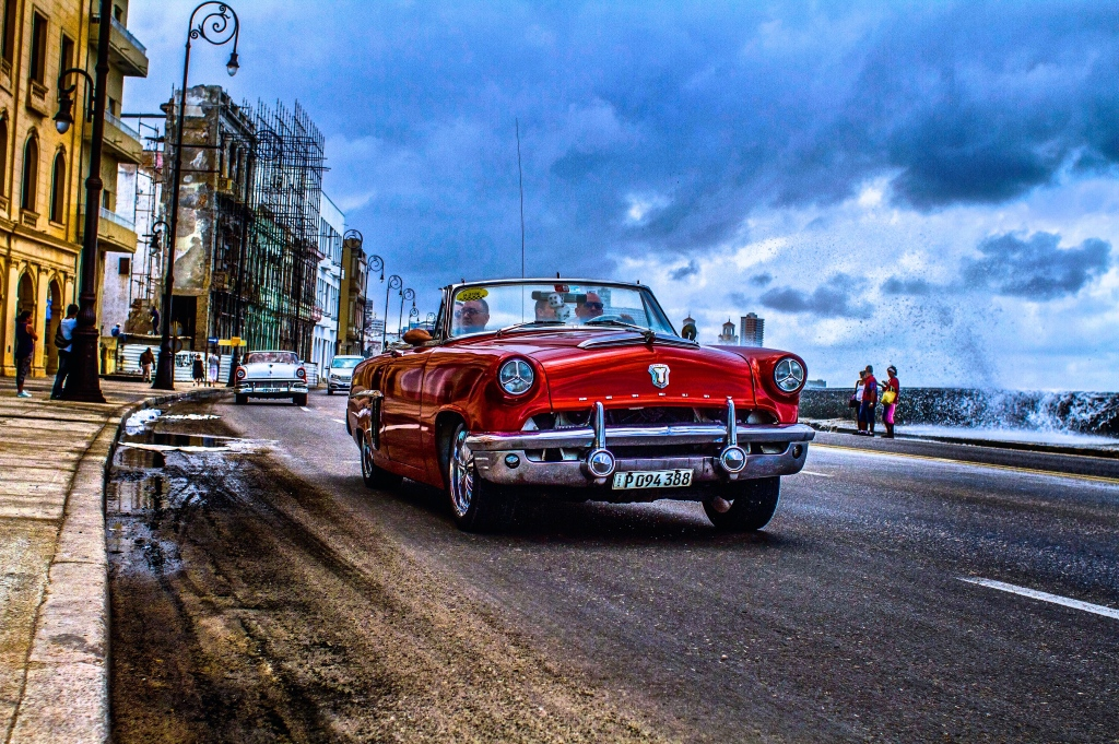 Cuba stoppedimportingcars for several years after the revolution. These dinosaurs are immaculately maintained and very commonly used