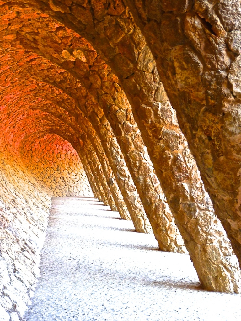 The famous corridor of Park Guell