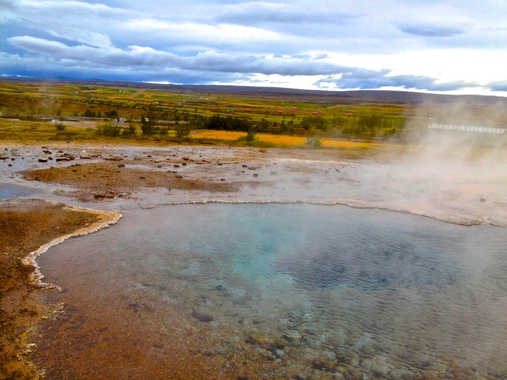Strokkur, just before erupting