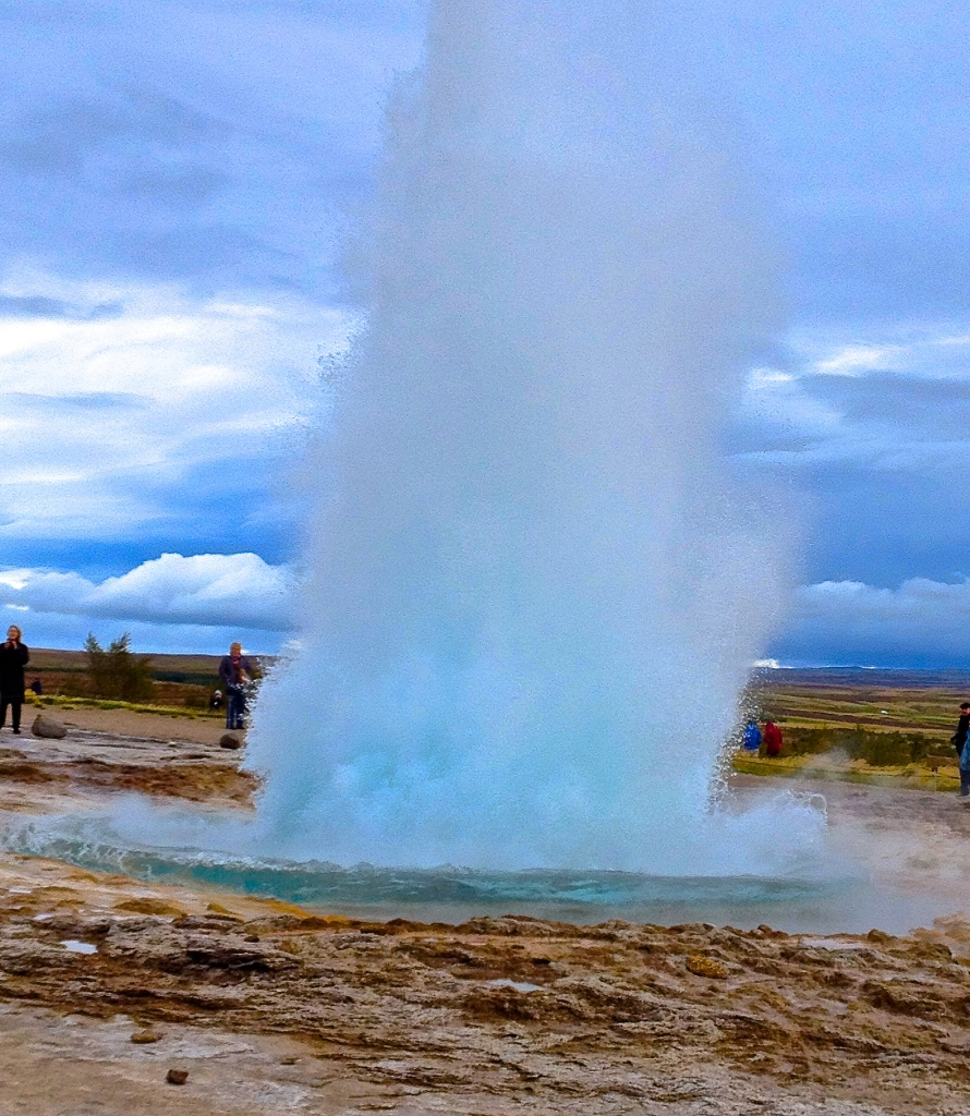 Strokkur erupts once every 8 to 10 minutes