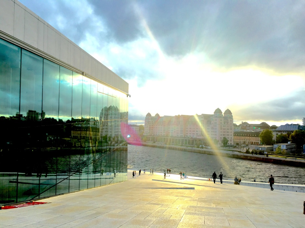 Sunset at Oslo Opera House